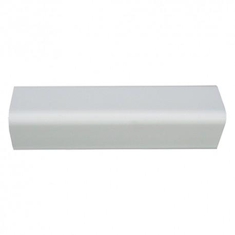 PARASPIGOLO ORNAMENTALE CM.3*3*290 'LISCIO' PVC BIANCO