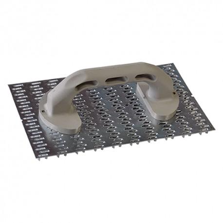 RASCHIATORE X INTONACO 250*150 M/CO PLASTICA A DENTI DI LUPO