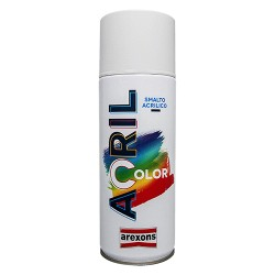 SMALTO SPRAY BIANCO LUCIDO RAL 9010 BOMBOLA 400 ML ACRILICO