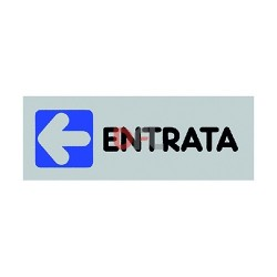 ADESIVO- ENTRATA A SINISTRA CM 15*5