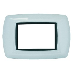 PLACCA 3 POSTI BIANCO IN ABS 'LIFE2983/WH