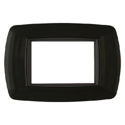PLACCA 3 POSTI NERO IN ABS 'LIFE2983/N'