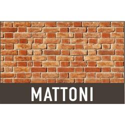 LASTRA IN POLIPROPILENE 'EFFETTO MATTONI' CM 50X100 CF 15 PZ