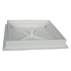 CHIUSINO X PIASTR.PLASTICA C/TELAIO 40X40 PVC