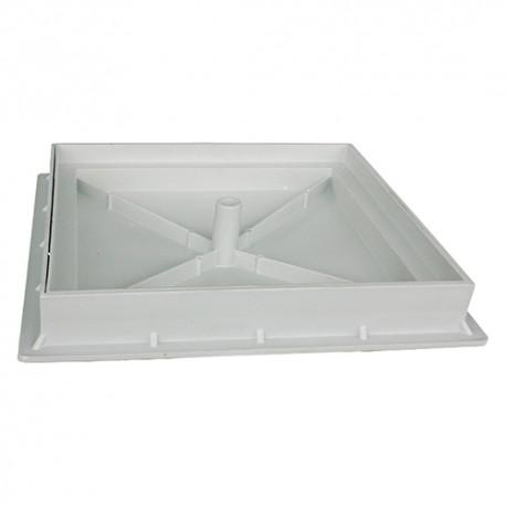 CHIUSINO X PIASTRELLA PLASTICA C/TELAIO 40X40 PVC