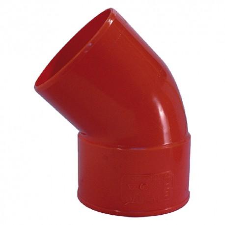 CURVA A 45' DA 125 IN PVC
