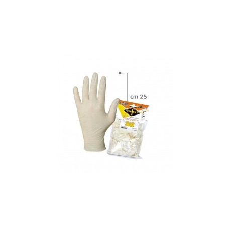 GUANTI LATTICE LATEX20 CF.20 PZ TG.XL
