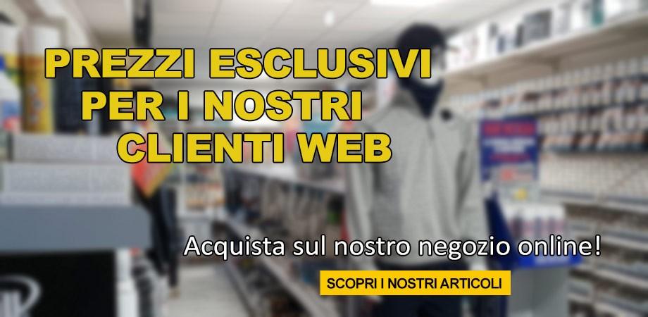 Prezzi esclusivi per i clienti web